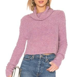 Free People Stormy Cowl Neck Knit Sweater Pullover